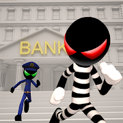 Stickman Bank Robbery Escape 1.4