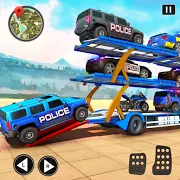 OffRoad Police Transport Truck Driving Games 2.5