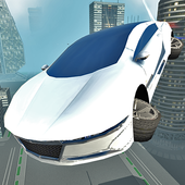 Futuristic Flying Car Driving 4