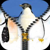 Penguin HD Zipper Lock Screen 1