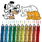 Cat and Dog Coloring Book Kid 1.0.0