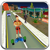 Hoverboard Pizza Delivery Surfer 3d 1.0