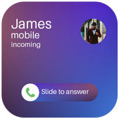 Caller screen dialer-Slide to answer,icaller OS9