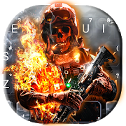 Battle Skull Keyboard Theme 1.0