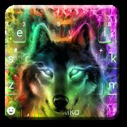 Colorful Wolf Keyboard Theme 2.0