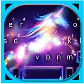 Neon Galaxy Unicorn Keyboard Theme 1.0