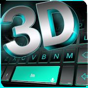 Neon 3d Black Keyboard Theme 1.0