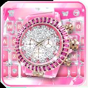 Lux Pink Watch Keyboard Theme 1.0
