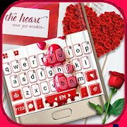 Red Valentines Love Keyboard Theme 1.0