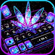 Shiny Galaxy Weed Keyboard Theme 1.0