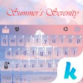 Keyboard - Summer's Serenity New Theme 1