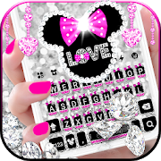 Twinkle Minny Bowknot Keyboard Theme 6.0
