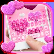Valentine Plush Heart Keyboard Theme 1.0