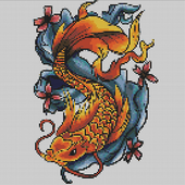 Tattoo Color By Number Draw Book Page Pixel Art 1.9
