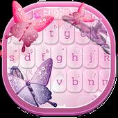 Pink Butterflies Keyboard 10.3
