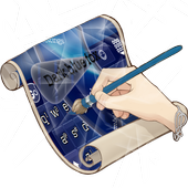 Dark blue fox Keyboard Skin 3.2