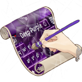 Deep Purple Keyboard Skin 3.3 Dark Pink