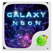 Neon Galaxy GO Keyboard Theme 3.87