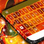 Neon Fire Keyboard Theme 1.279.13.92