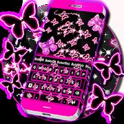 Neon Butterflies KeyboardKeyboard BackgroundsPersonalization