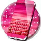 Pink Keyboard Heart Glow ThemeNew Emojis Keyboard ThemesPersonalization