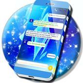 Frozen Blue SMS Theme 1.277.13.3