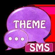 Purple Violet GO Theme SMS 2.6