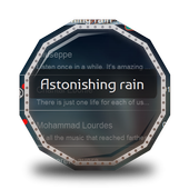 Astonishing rain GO SMS 1.1