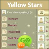 GO SMS Yellow Stars 1.9