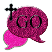 GO SMS THEME/PinkLeopardCross 1.1