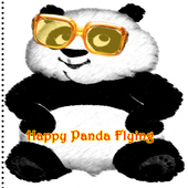 Happy Panda Flying