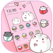 Cute Cup Cat Theme Kitty Wallpaper & icon pack 1.1.3