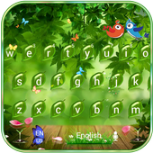 Green nature Keyboard Theme green leaf