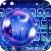 Night Sky Keyboard theme 10001003