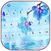 Blue orchid Keyboard theme 10001005