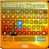 Sunset Emoji Keyboard Theme 1.0