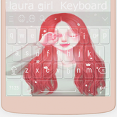 Cute Laurra Girl Keyboard Theme HD 2.1.1