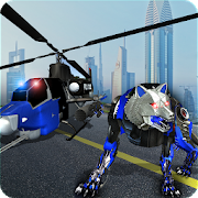 Air Force Transform Robot Cop Wolf Helicopter Game 1.3