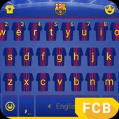 Barcelona The Stripes Keyboard Theme 3.0