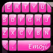 Gloss Pink Emoji Keyboard 3.0