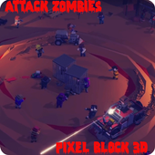 Attack Zombies:Pixel block 3D 4