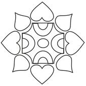 Simple Rangoli Designs Free 7