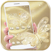 Gold Butterfly Theme Wallpaper luxury gold 1.1.3