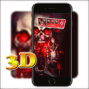 3D Red Gothic Blood Skull Launcher Theme 1.1