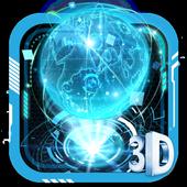 3D Blue Neon Earth Theme 1.1.9