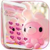 Cute Bear Theme Pink Bow Bear 1.1.8