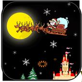 圣诞节手机主题+圣诞老人+雪花背景