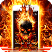 Cool Flame Skulls Theme Fire On Your Phone 1.1.15
