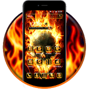 Fire Skull android Theme 1.1.3