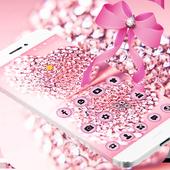 Pink Glitter Diamond Bowknot Theme 1.1.3